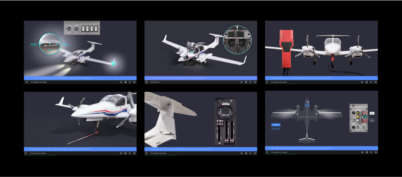 Screenshots from CBT DA42