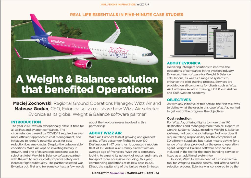 AircraftIT Wizz Air W&B software