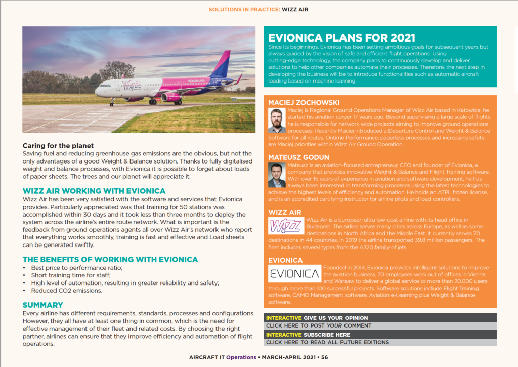 AircraftIT Wizz Air new solutions